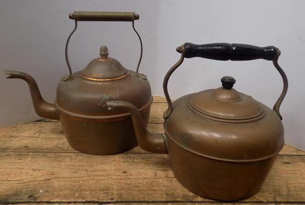 Copper kettle x2 - good condition