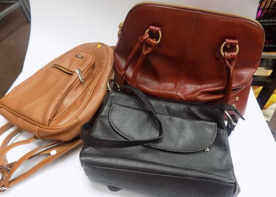 Leather bags and back pack (new)