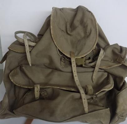 'A' frame 1930's rucksack, Bergen - leather has been replaced
