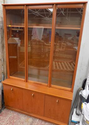 Display cabinet with cupboards underneath