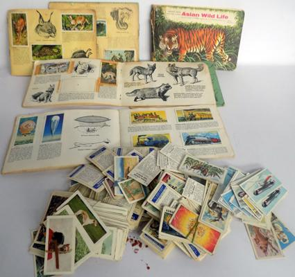 Collection of cigarette cards & books