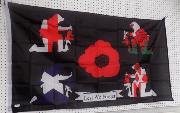5ft  x  3ft Remembrance flag
