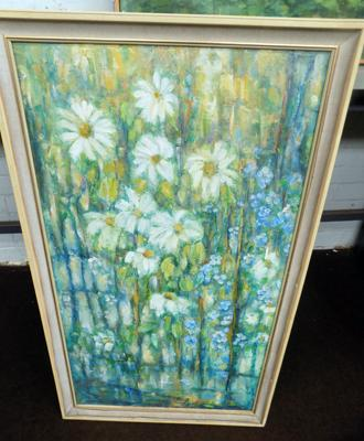 "Original painting by Margaret Stephenson - signed on back - approx. 38"" in length"