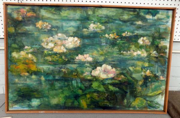 "Original painting by Margaret Stephenson - signed on back - approx. 41"" in length"