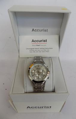 Accurist chronograph watch (new)
