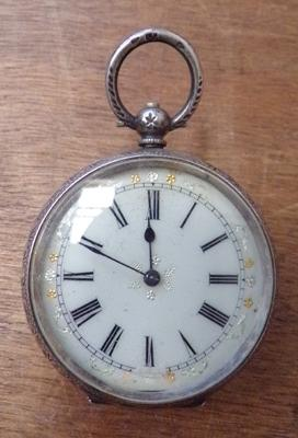 Antique hallmarked silver pocket watch