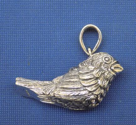 Silver bird whistle