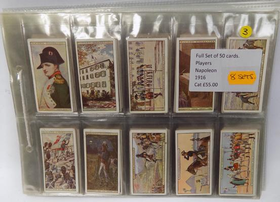 8x Full sets of cigarette cards