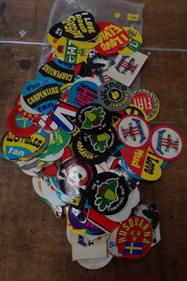 Large collection of retro 1970s stickers, over 250, various themes