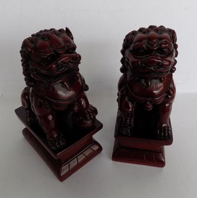 Pair of Chinese dog bookends