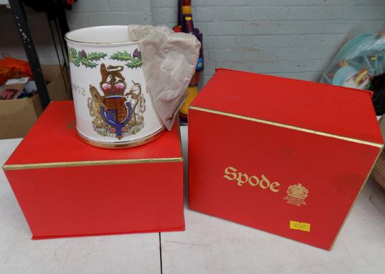 2x Spode Royal Silver Jubilee mugs - 1977 40+ years old - original packaging
