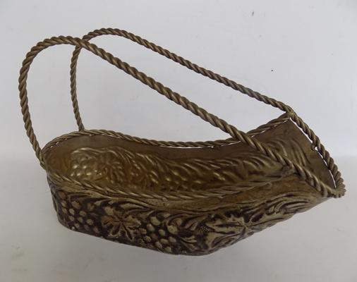 Vintage French metal bottle carrier