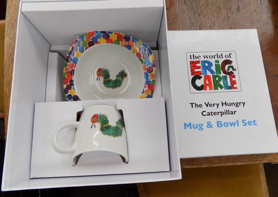 Hungry Caterpillar bowl & cup set-new in box