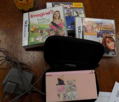 Nintendo DS & 3 games w/o