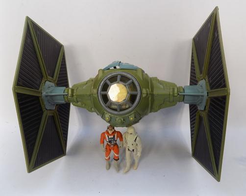 Vintage Star Wars Tie Fighter & two figures