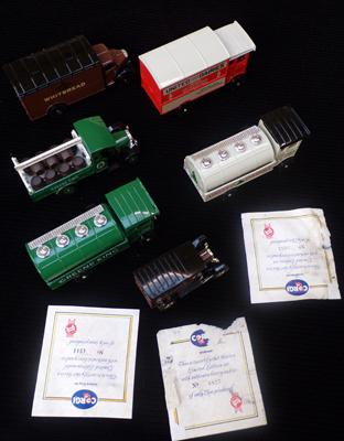 Limited Edition Corgi cars/vans with certificates