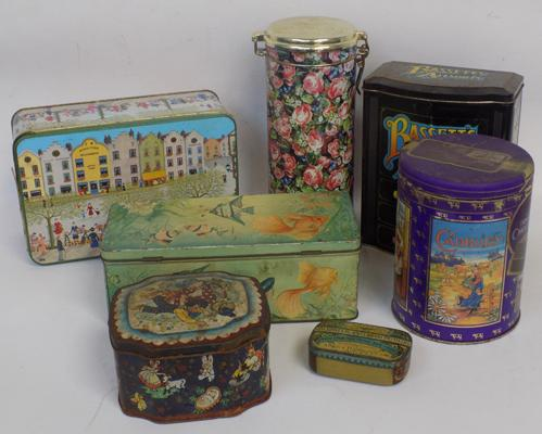 Selection of vintage mixed tins