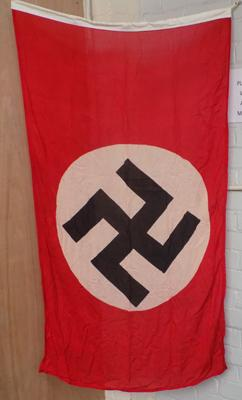 Quality reproduction WW2 Nazi party flag- approx. 5 feet x 3 feet