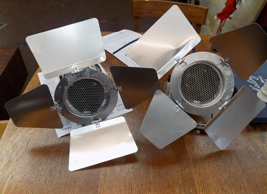 Pair of theatre lights-for upcycling