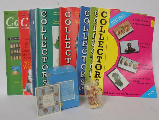Collector's magazines & Beatrix Potter Jeremy Fisher figurine