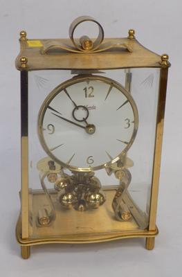 Vintage Kieninger and Obeigfell West German brass clock