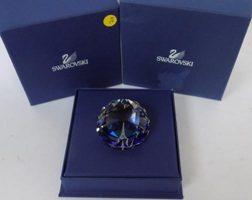 Boxed Swarovski cut crystal paperweight