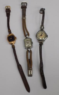 Three vintage watches