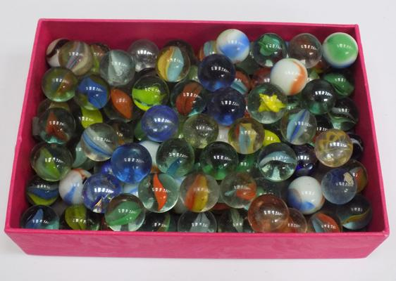 Approx. 90 vintage glass marbles