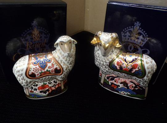 Royal Crown Derby Imari Ram & Imari Ewe