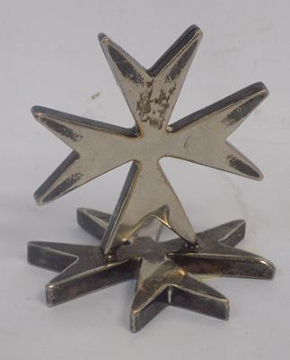 Vintage Maltese cross (poss menu stand etc.)