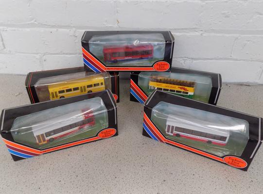 Set of 5 'First Edition' boxed buses