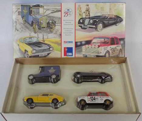 Boxed Corgi 25th Anniversary Limited Edition Civil Service set with certificate, No. 2834