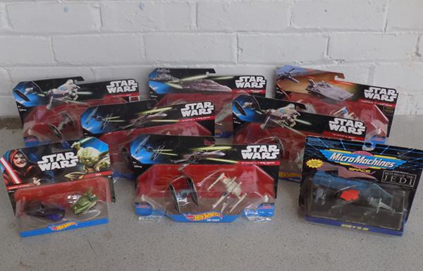 Eight packs of Star Wars micro machine and vehicles