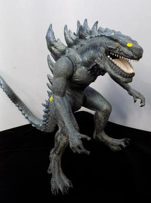 1998 Trendmaster Godzilla, 24 inches long (damaged tail)