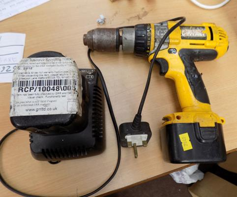 Dewalt drill and spare battery