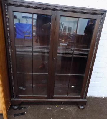 Shelved display glazed cabinet
