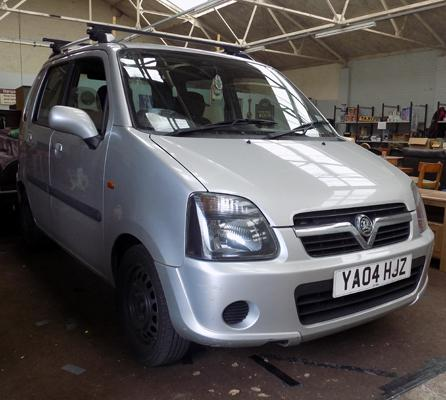 Vauxhall Agila 1.2, 72,507 miles, MOT June, with Thule roof rack