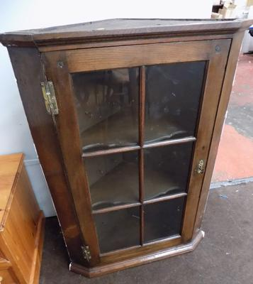 Old glazed wall cabinet