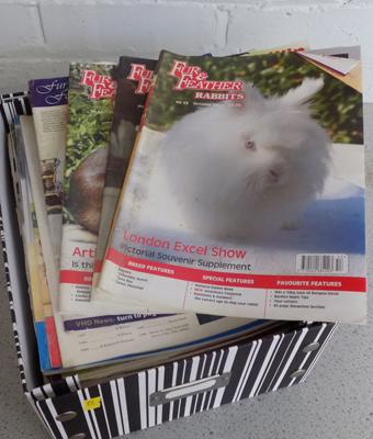 Box of Fur & Feather magazines
