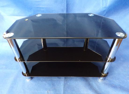Glass TV display unit - 31 x 17 x 20 inches high