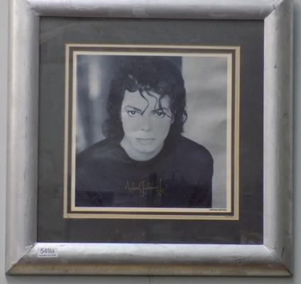 Framed Michael Jackson limited edition print - signed by Michael Jackson