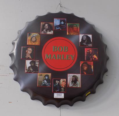 Bob Marley bottle top wall sign