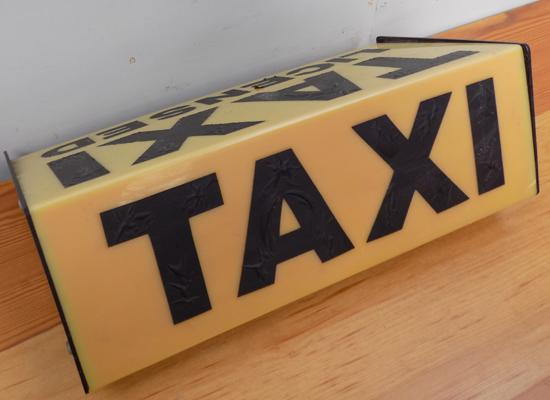 Taxi/ car top sign