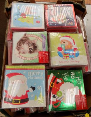 Box of new Christmas cards