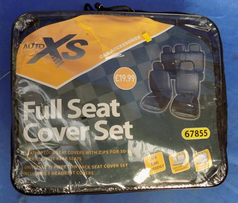 Car seat cover set, approx. 153 inches by 144 inches