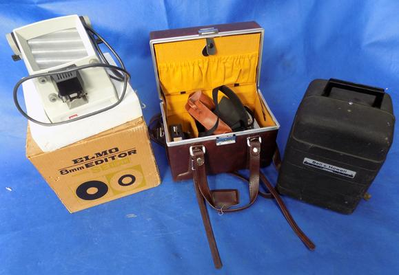 Camera case & accessories, Elmo editor, Bell & Howell projector
