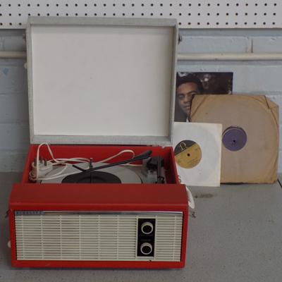 Fidelity vintage record player, with records w/o