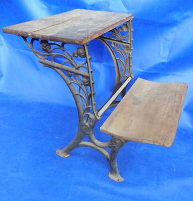 Vintage cast frame ledgers table