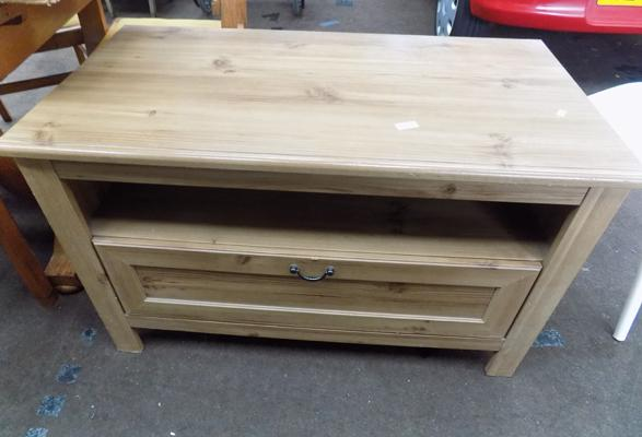 Light oak coloured TV unit
