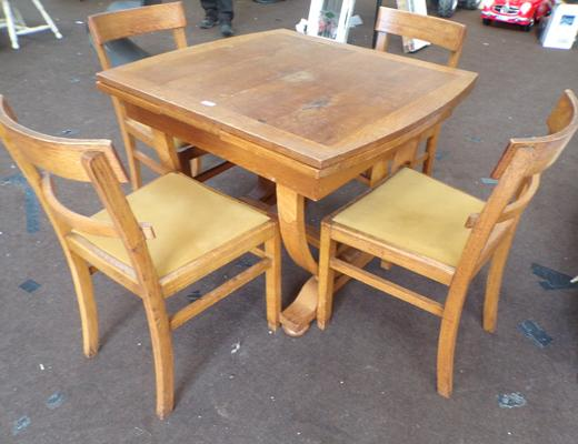 Art deco table and chairs